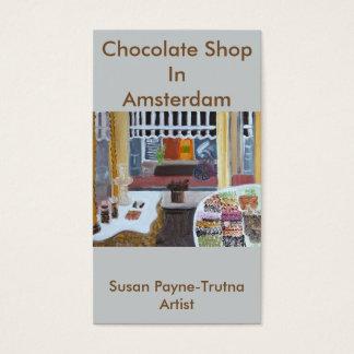 Magasin de chocolat dans le carte de visite