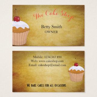 Magasin de gâteau cartes de visite