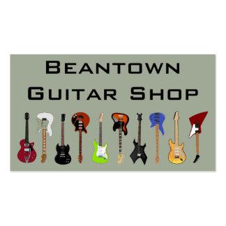 Magasin de guitare de Beantown Carte De Visite Standard