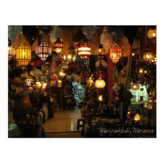 Magasin de lampe de Marrakech Maroc Carte Postale