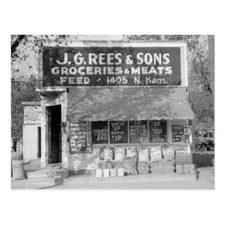 Magasin d'épicerie et d'alimentation, 1938 carte postale