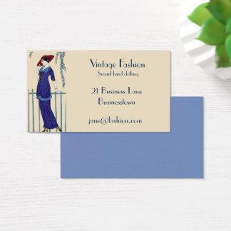 Magasin d'habillement vintage d'occasion de mode cartes de visite
