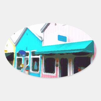 Magasins de pastel à Key West Sticker Ovale