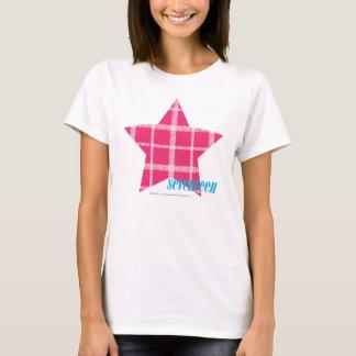 Magenta 3 de plaid t-shirt