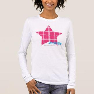 Magenta 3 de plaid t-shirt à manches longues