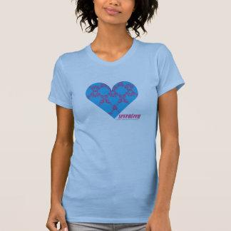 Magenta-Aqua 3 de damassé T-shirt
