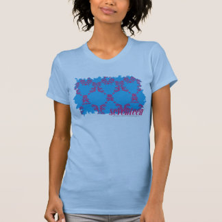 Magenta-Aqua 4 de damassé T-shirt