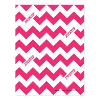 Magenta de zigzag carte postale