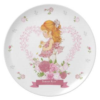 Magenta du plat #4 de porcelaine de Sarah Kay Assiettes En Mélamine