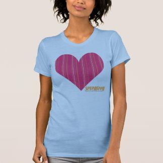 Magenta mince 4 de rayures t-shirt