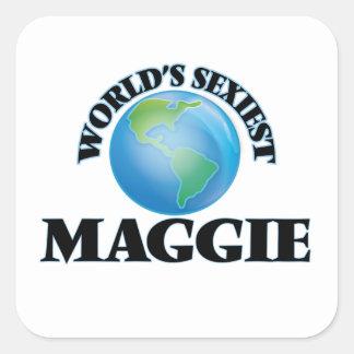 Maggie le plus sexy du monde autocollant carré