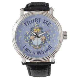 Magicien avec la boule montre