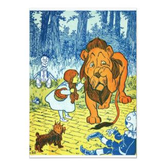 Magicien d'Oz Dorothy et le lion lâche Carton D'invitation 12,7 Cm X 17,78 Cm