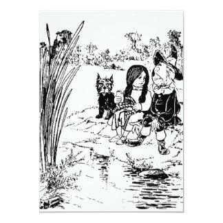 Magicien d'Oz Toto, Dorothy et épouvantail Carton D'invitation 12,7 Cm X 17,78 Cm