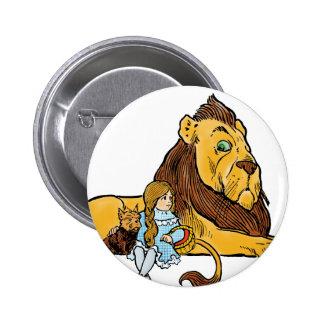 Magicien d'Oz vintage, Dorothy et Toto avec le Badge Rond 5 Cm