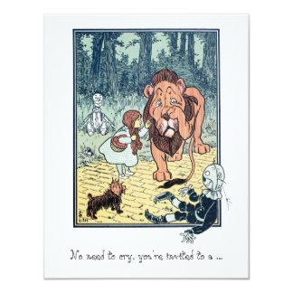 Magicien d'Oz vintage. Dorothy, fête Carton D'invitation 10,79 Cm X 13,97 Cm