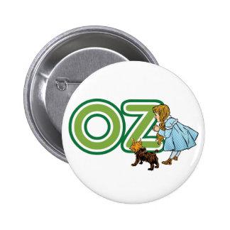 Magicien d'Oz vintage Dorothy Toto avec de GRANDES Badge Rond 5 Cm