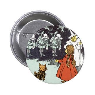 Magicien d'Oz vintage Dorothy Toto Glinda Badge Rond 5 Cm