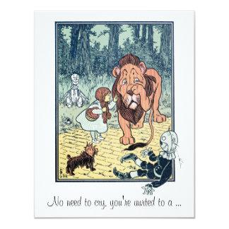 Magicien d'Oz vintage, invitation de baby shower