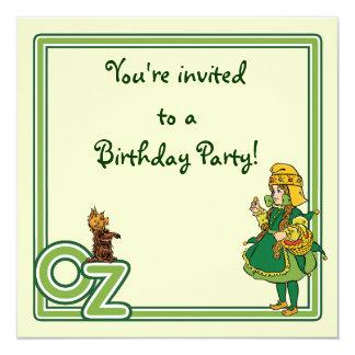 Magicien d'Oz vintage, invitation de fête