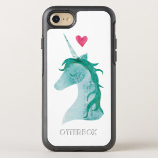 Magie bleue de licorne avec le coeur coque OtterBox symmetry iPhone 8/7