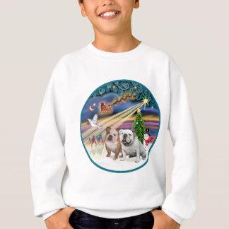 Magie de Noël (r) - deux bouledogues anglais Sweatshirt
