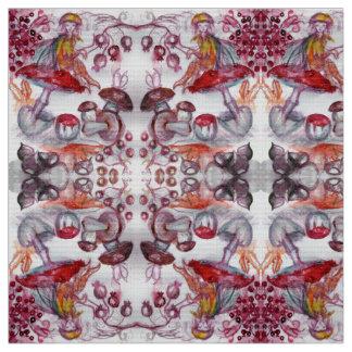 MAGIE FOLLET d'imaginaire blanc rouge de Flora de Tissu