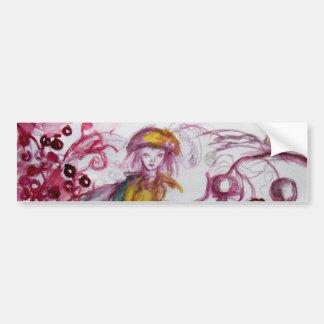 MAGIE FOLLET d'imaginaire floral blanc rouge de Autocollant De Voiture
