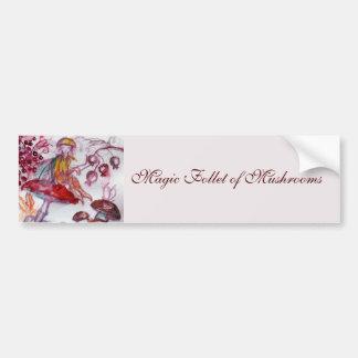 MAGIE FOLLET d'imaginaire floral blanc rouge de Autocollant Pour Voiture