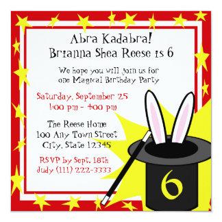 Magie j'anniversaire carton d'invitation  13,33 cm