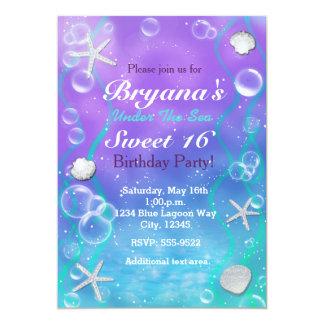 Magique sous l'invitation de fête d'anniversaire carton d'invitation  12,7 cm x 17,78 cm