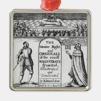 Magistrat civil original de droite divine de ornement carré argenté