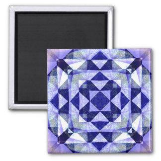 Magnet bleu d'art numérique d'édredon magnet carré