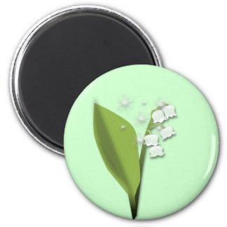 Magnet brin de muguet magnet rond 8 cm