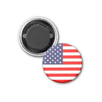 Magnet de drapeau américain   rond magnet carré 2,50 cm