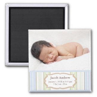 Magnet de faire-part de naissance de photo - bébé aimant pour réfrigérateur