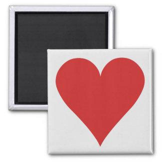 Magnet de joueur de carte - coeur