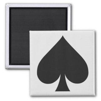Magnet de joueur de carte - pelle