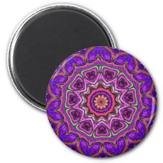 Magnet de magie de mandala magnet rond 8 cm
