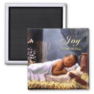Magnet de Noël de Jésus de bébé d'Afro-américain