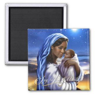 Magnet de Noël de Madonna d'Afro-américain