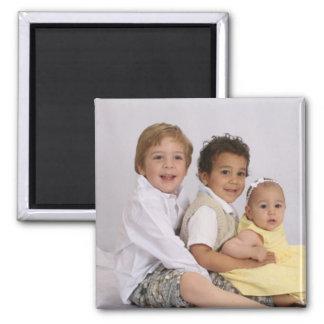 Magnet de photo personnalisé par coutume magnet carré