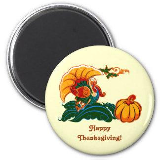 Magnet de thanksgiving de la Turquie et du