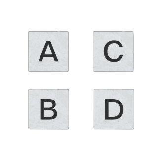 Magnet d'orthographe d'A à de D