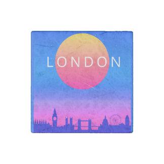 Magnet En Pierre Affiche de voyage de coucher du soleil d'horizon