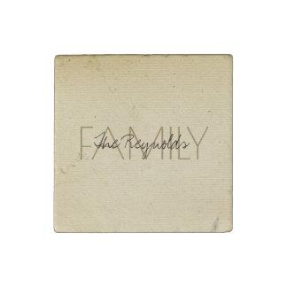 Magnet En Pierre Ajoutez le papier en ivoire vintage de nom de