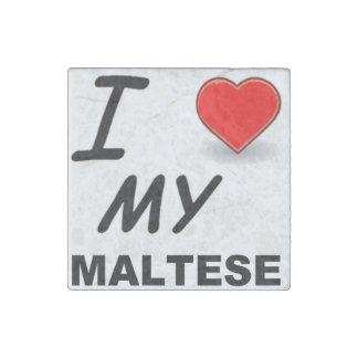 Magnet En Pierre amour maltais