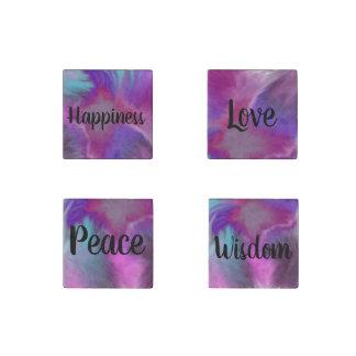 Magnet En Pierre Amour Wisdome de paix et ensemble d'aimant de