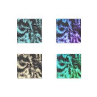 Magnet En Pierre Aqua et art moderne de noir