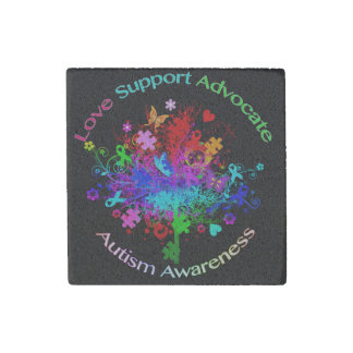 Magnet En Pierre Arbre d'autisme dans le spectre